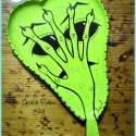 Space Palm (tray or sign) TB1541