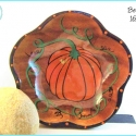 Hand-painted pumpkin bowl TB1652 'Before'