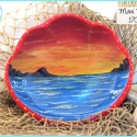 'Maui Morn' Ocean Sunrise Painted Bowl TB1703