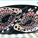 'Eyes' Abstract Pop Art Painted Bowl TB1711