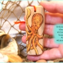 Orange Octopus Ornament, Driftwood, DWOR05