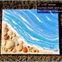 Beach Painting with Real Shells and Sand BC1701