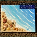 Beach Painting with shells and sand - BC1702