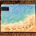SOLD Beach Painting w/shells and sand - BC1706