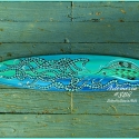 Green Blue Octopus Surfboard Wall Art SB8 Artemesia