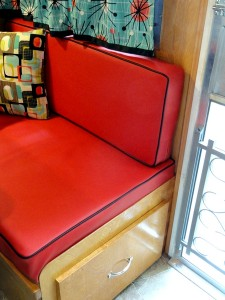 Red Marine Vinyl Cushions