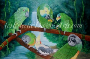 Parrot pet portrait by Dawn Ventimiglia