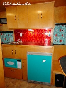 vintage camper galley kitchen