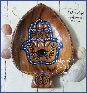 Blue Eye Hamsa bowl