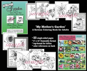 Gardening adult coloring book