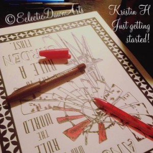 adult coloring book, kristin h