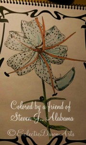 adult coloring book, lily, by fr of steven j