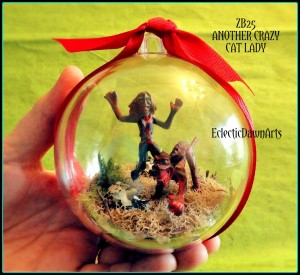 Crazy Cat Lady Zombie Ornament
