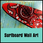 Surfboard Wall Art by Dawn Ventimiglia