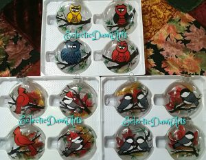 handpainted christmas ornaments