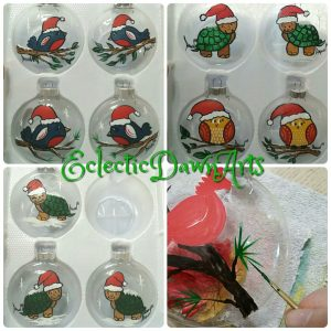 Bird Ornaments, Turtle Ornaments