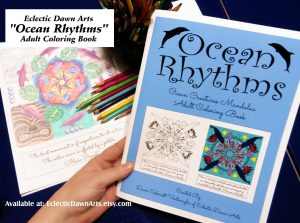 Ocean mandala adult coloring book.