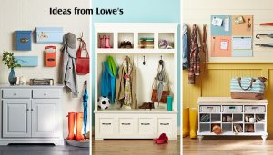 entryway storage and organization