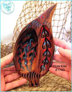 ©EclecticDawnArts Tribal Kiwi Jewelry Tray, handpainted wood art