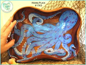 Painted Octopus Bowl ©EclecticDawnArts