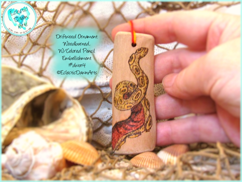 Driftwood Tentacle Ornament DWOR4