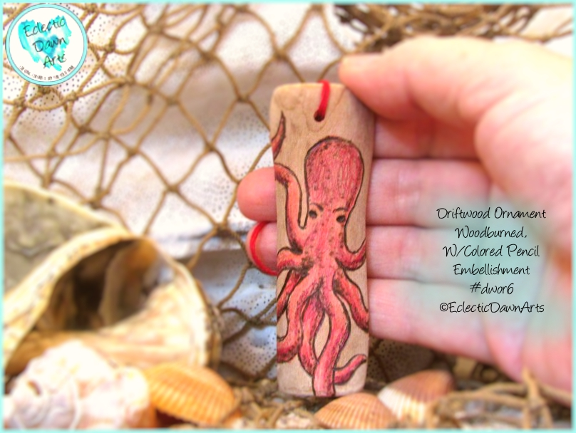 Pink Octopus Ornament DWOR06