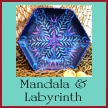 Shop for bowls featuring mandalas or finger labyrinths by Dawn Schmidt Ventimiglia on EclecticDawnArts.com